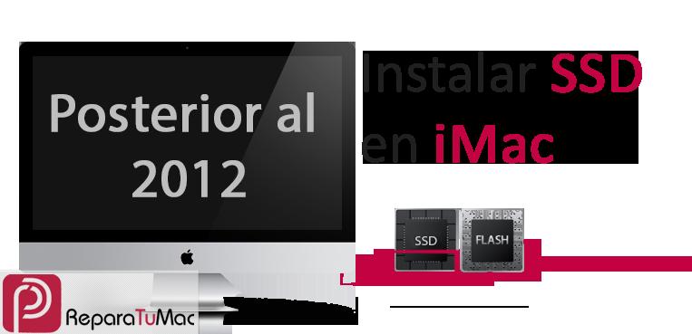 Instalar SSD en iMac posterior al 2012