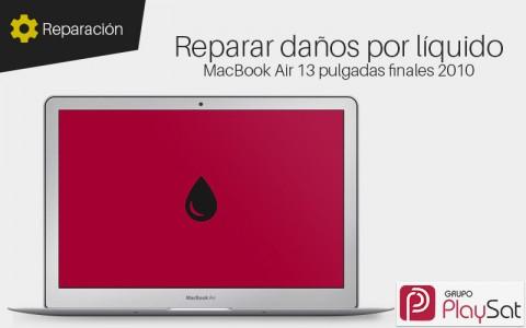 Reparar MacBook Air 13 pulgadas finales 2010 mojado