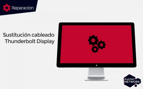 Sustitución de cableado Apple Thunderbolt Display
